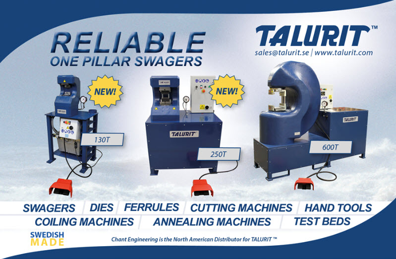 Talurit™ 130T, 250T and 600T Swagers