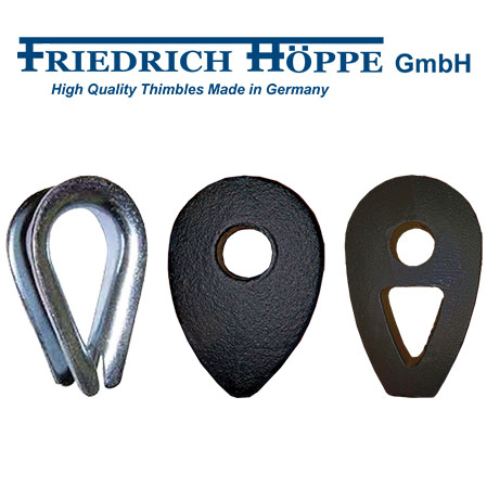 DIN 3090 and 3091 Thimbles manufactured by Friedrich Höppe GmbH