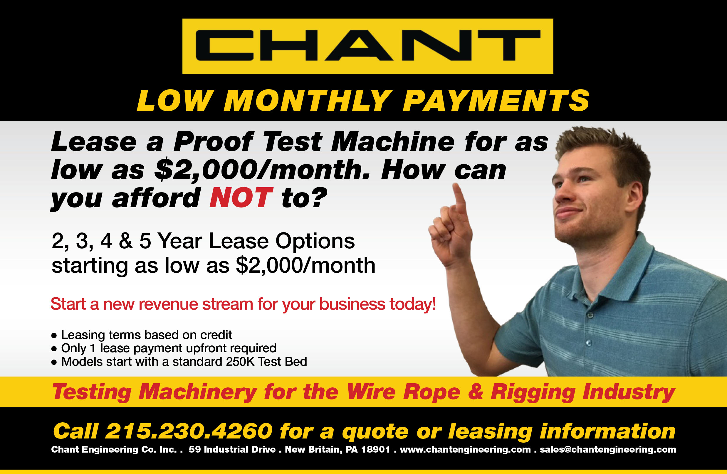 Did you know you can lease a Chant machine?