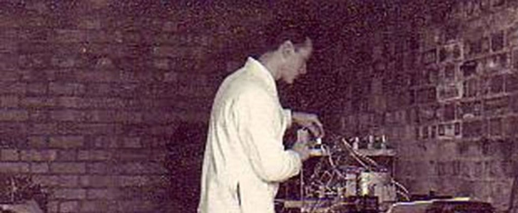 History - Jim Chant working on a project in his basement