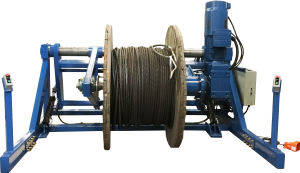 Floor Mounted Take-Up Reeling Machine with Spool