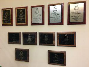 Chant AWRF Safety Award Wall