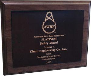 AWRF 2017 Award Plaque