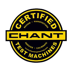 Chant Certified Test Machines Seal