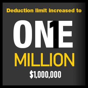 Section 179 Deduction Limit 1Million Dollars Banner