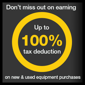Section 179 Get 100% Tax Deduction Banner