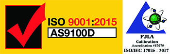 ISO 9001/ AS9100D & PJLA 17025 Seal